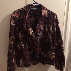 Johnny Was Embroidered Jacket size L